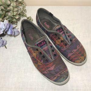 Keds Aztec Print Sneaker Tennis Shoe Laceless
